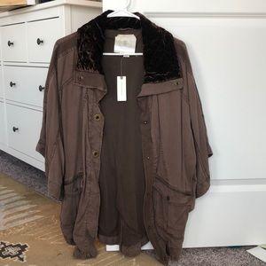 Hei Hei Anthropologie jacket taupe